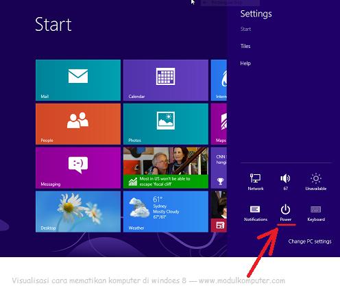 cara mematikan komputer di windows 8 dengan mudah gbr2