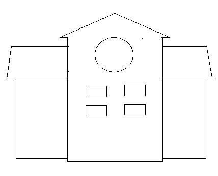 membuat disain rumah dengan paint