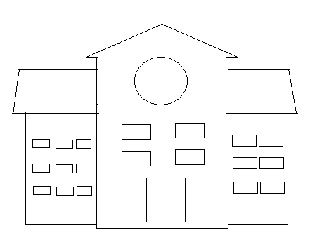 membuat disain rumah dengan paint untuk kelas 3 sd