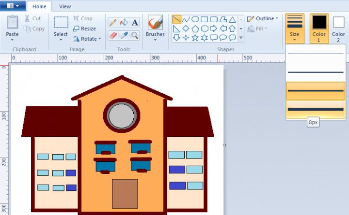 Modul Microsoft Paint Untuk Anak SD Membuat Disain Rumah