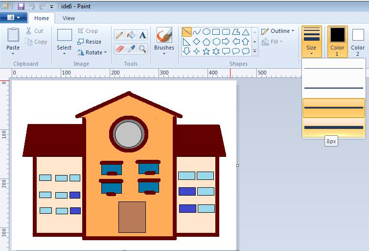 modul komputer sd membuat disain rumah di paint