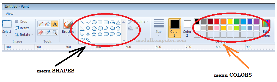 modul komputer kelas 1 sd materi aplikasi paint