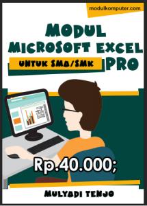 modul microsoft excel pro pendukung materi pelajaran aplikasi komputer