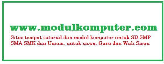 Modul Komputer Untuk SD SMP SMA SMK
