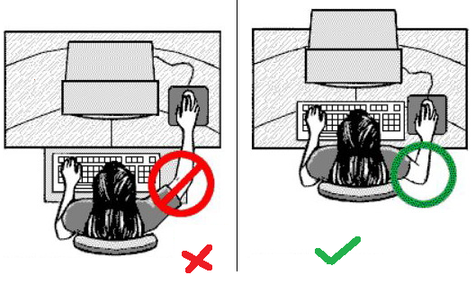 posisi duduk pada saat menggunakan mouse