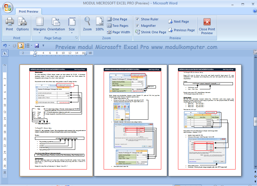 Modul Microsoft Excel