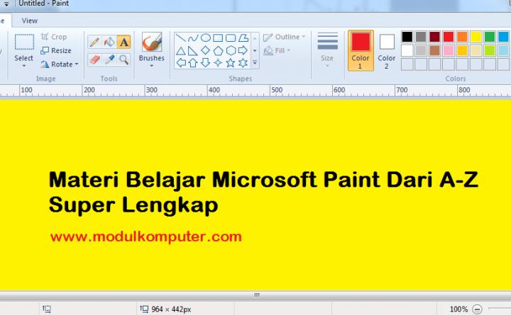 Materi Belajar Microsoft Paint Dari A-Z Super Lengkap