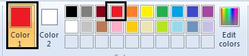 memilih warna di microsoft paint