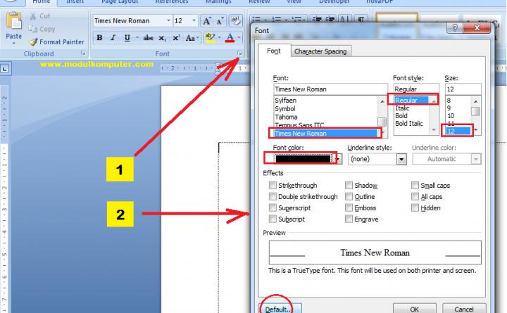Materi Microsoft Word Untuk SD dan Pemula: Mengeksplorasi Menu Font
