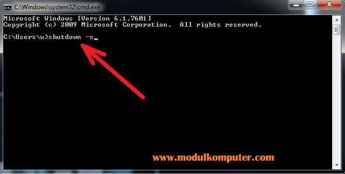 cara mematikan komputer melalui cmd