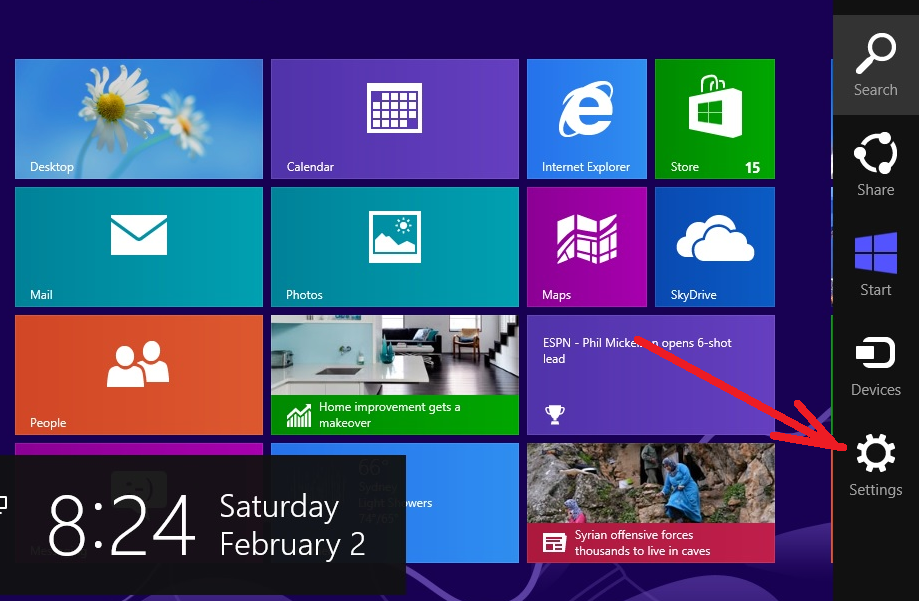 cara mematikan komputer windows 8