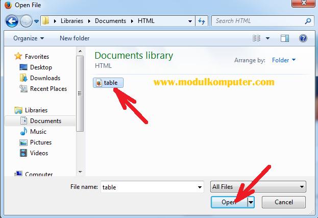 cara menampilkan html pada browser