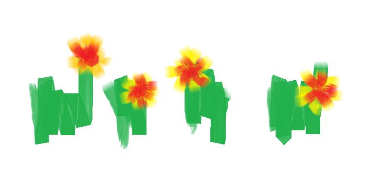 contoh gambar bunga yang dibuat dengan Paint