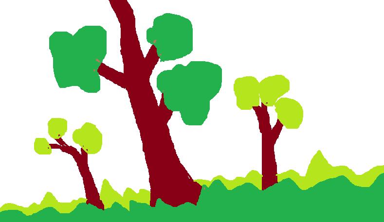 Contoh gambar yang dibuat dengan MS Paint