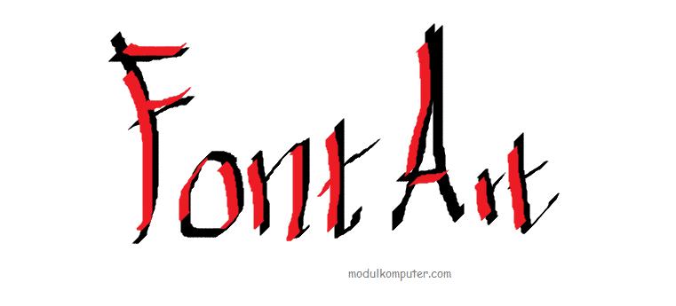 kreasi kaligrafi dengan ms paint