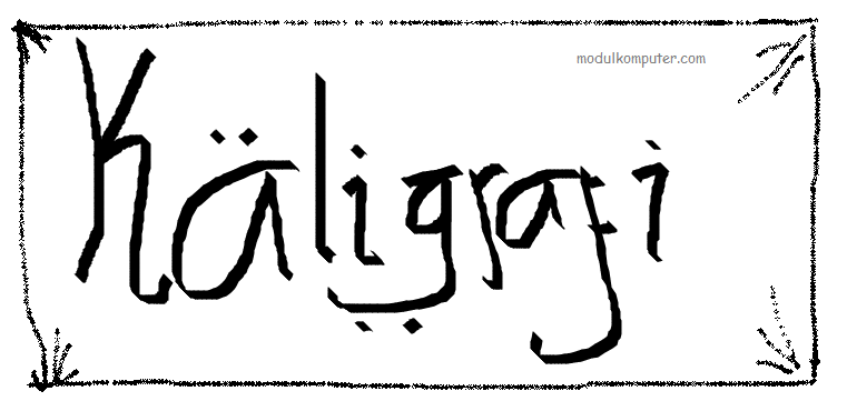 membuat kaligrafi sederhana dengan paint