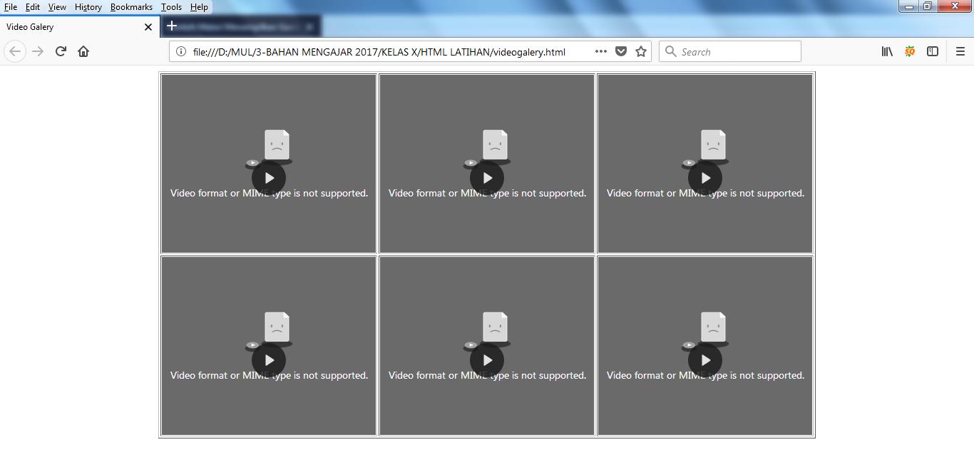 MENAMPILKAN VIDEO MENGGUNAKAN KODE HTML