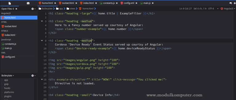aplikasi pendukung belajar pemrograman web dasar - komodo edit