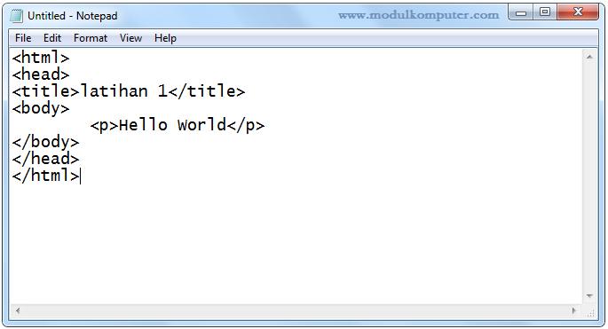 aplikasi pendukung belajar pemrograman web dasar - notepad