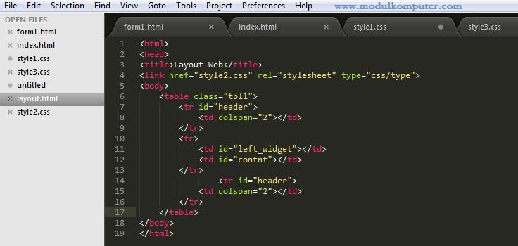 aplikasi pendukung belajar pemrograman web dasar - sublime