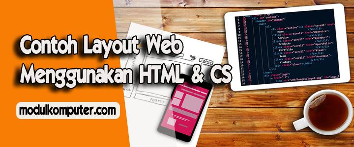 10 Contoh Layout Web Menggunakan HTML dan CSS Untuk Pemula