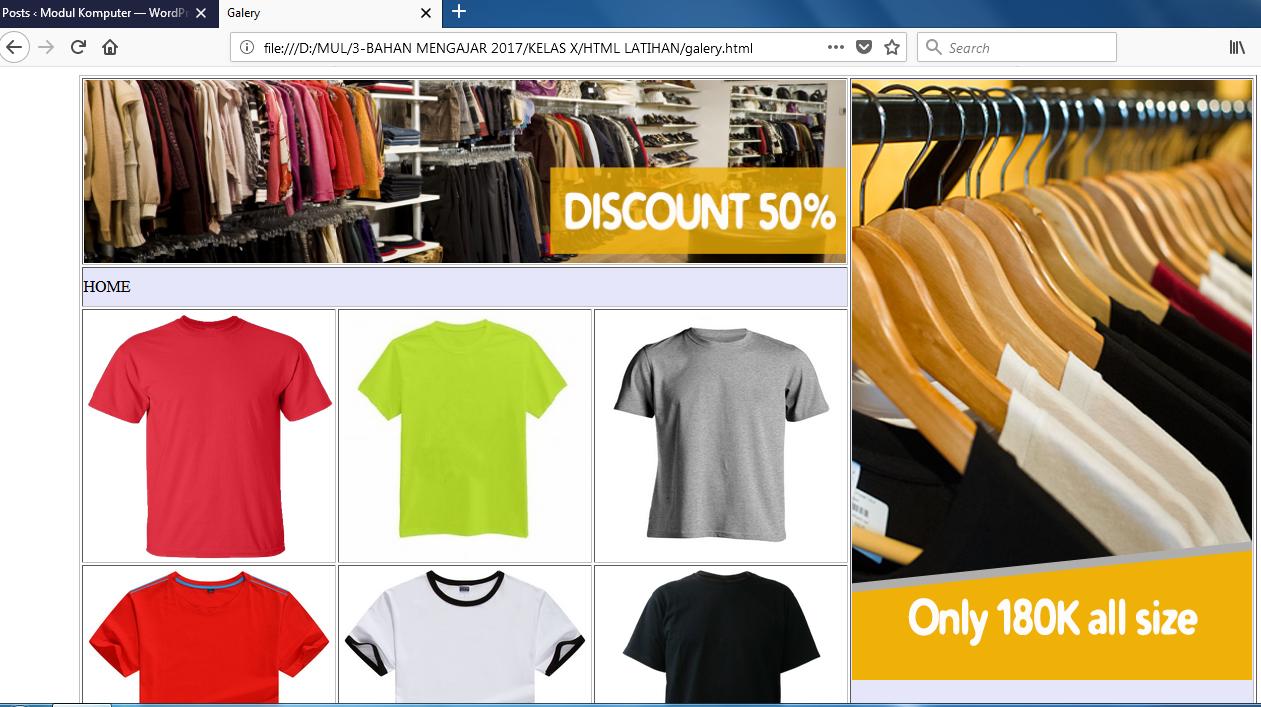 Menampilkan Gambar dengan HTML materi pemrograman web dasar HTML