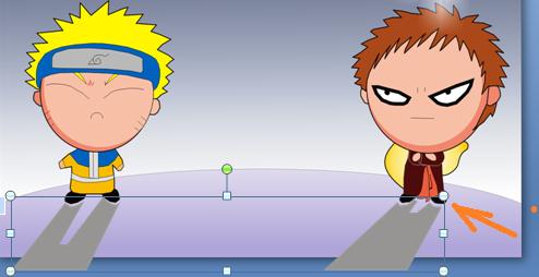 memberi efek animasi apear pada karakter animasi