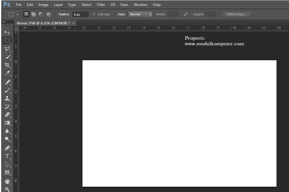 posisi kertas horizontal di photosop