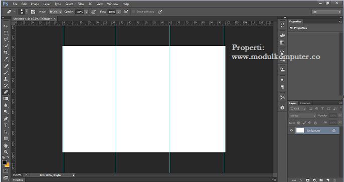 step 6 tampilan gride pembatas kertas di photosop