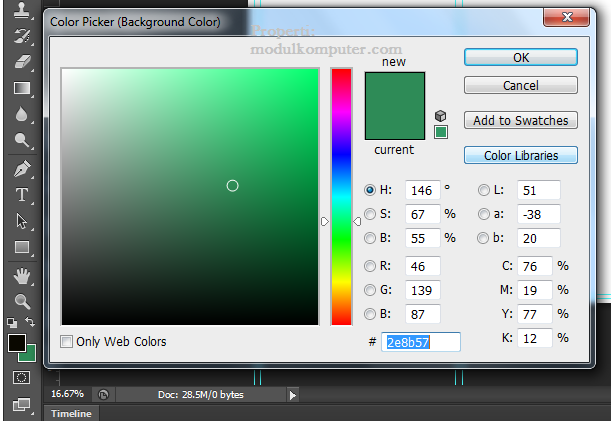 step 9 memberi warna layer