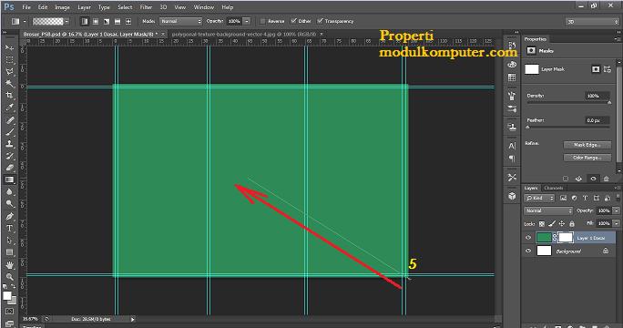 step10 gradasi pada membuat brosur di photosop
