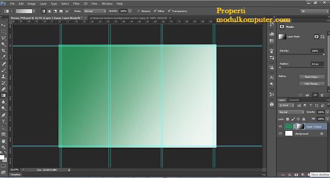 step11 hasil gradasi photosop membuat brosur