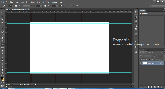 step7 membagi posisi kertas 3 kolom di photosop