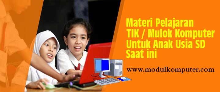 Materi Pelajaran Komputer Untuk Anak Usia SD Saat ini