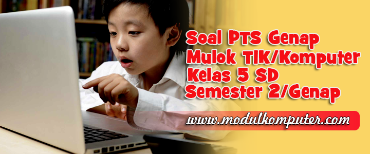 Soal PTS TIK/Mulok Komputer Kelas 5 SD Semester 2