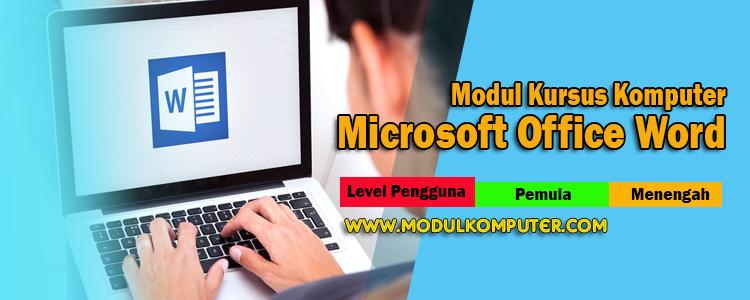 modul kursus komputer microsoft word
