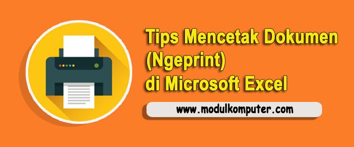 Tips Mencetak Dokumen / Ngeprint di Microsoft Excel