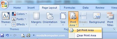 tips mencetak dokumen di microsoft excel