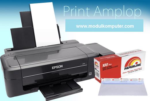 cara mengatur posisi amplop pada printer