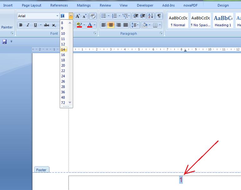 cara membuat page number di microsoft word