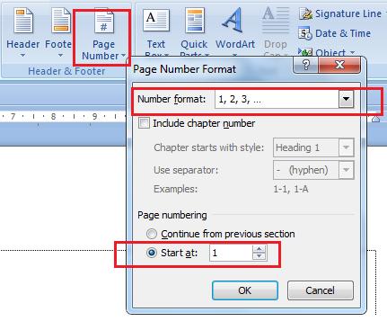 cara mengatur nomor halaman romawi dan angka