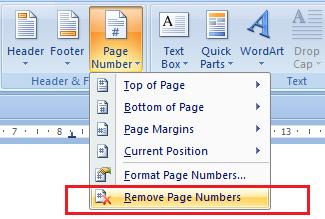 cara menghapus page number