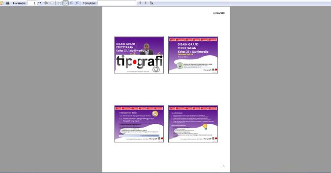 contoh hasil print powerpoint dalam bentuk handout