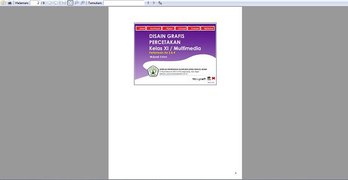 hasil cetak powerpoint dalam bentuk notes pages
