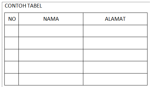 tips agar teks ditengah tabel word