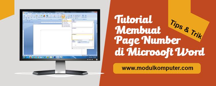 tutorial dan panduan cara membuat page number