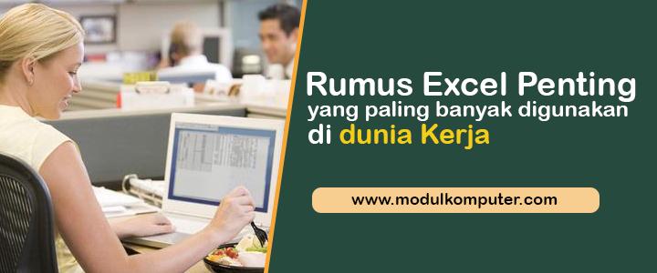 Rumus Excel Yang Paling Banyak Digunakan di Dunia Kerja