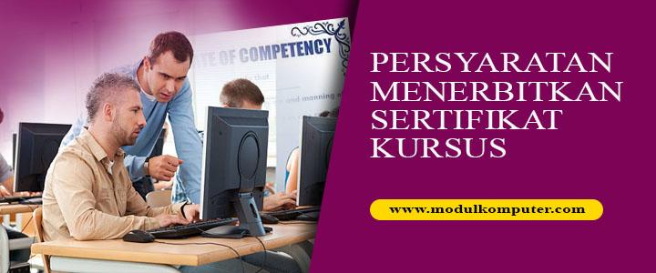 syarat menerbitkan sertifikat kursus